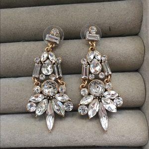 J Crew Crystal Drop Earrings